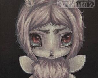 Fairy moth girl lowbrow gothic fantasy art print big eye pop surreal - Fairy 11