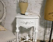 Painted Cottage Chic Shabby Romantic French Night Table NT909