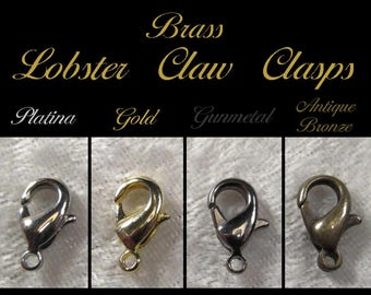 Brass Lobster Claw Clasp (lead and nickel free) - SKU 06.19.17