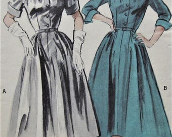 Vintage Dress Sewing Pattern  Butterick 6156 Size 14