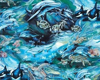 Gorgeous Whales n More--Ocean Fabrics--Gorgeous--LAST Piece -- 40-70% off Patterns n Books SALE
