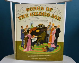 Vintage 1960 Songs of the Gilded Age Music Book