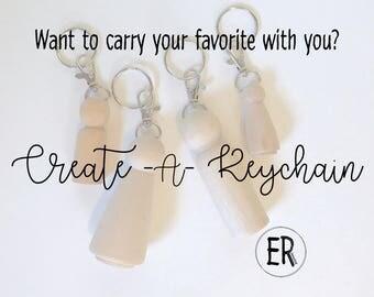 CREATE A KEYCHAIN - Wooden Peg Doll