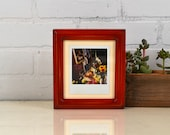 Picture Frame for Instant Camera Print in Double Cove Style with Vintage Red Dye Finish 4.75x5.5 inch Frame - IN STOCK - Same Day Shipping