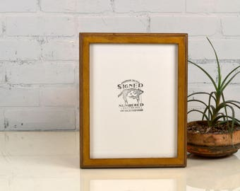 8.5 x 11 Picture Frame in 1x1 2-Tone Style with Vintage Honey Dye on Poplar Finish - IN STOCK Same Day Shipping - 8.5x11 inch Picture Frame