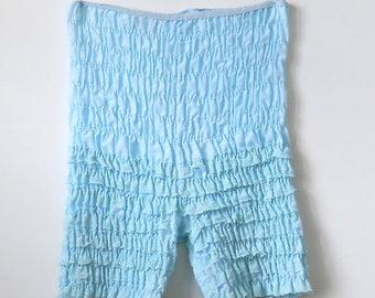 Vintage Lace Ruffle Underwear • Vintage Smocked Bloomers • Vintage Blue Ruffled Panties