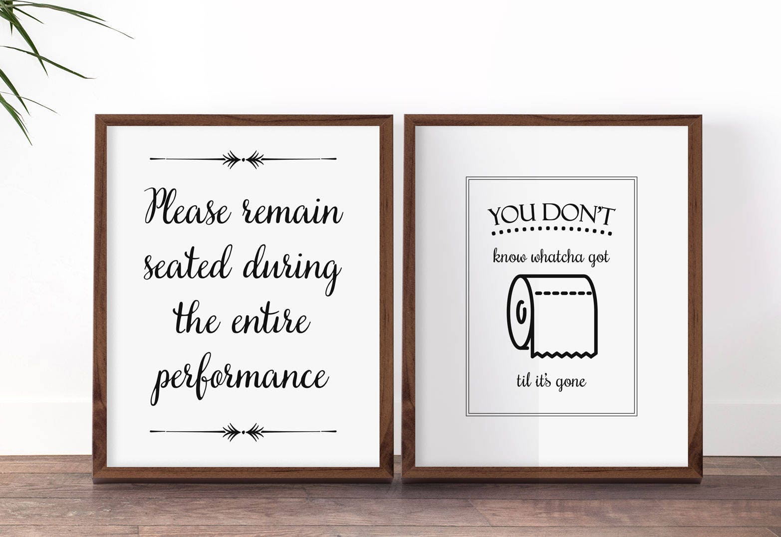 funny bathroom art set funny bathroom prints please remain seated toilet sign - Funny Bathroom Signs
