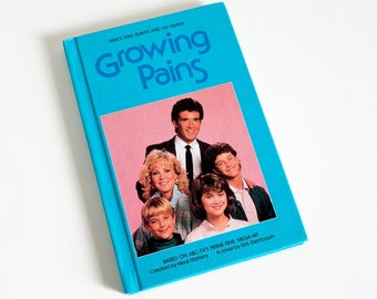 Vintage 1980s Childrens Chapter Book Growing Pains by NH Kleinbaum 1986 VGC Hc, 1980s Gen X Hit TV Show Mike Seaver Family Sitcom Comedy