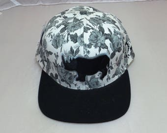 Snapback Flat-Brim Hat - 3D Rhino (One-of-a-kind)