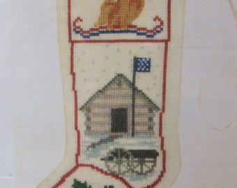 Historic Valley Forge Fort Stocking Ornament Posy Counted Cross Stitch Kit