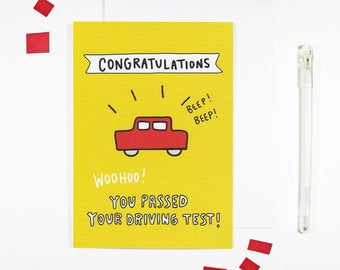 Driving Test Card You Passed Your Driving Test Congratulations Card
