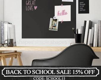 Chalkboard Wall Decal, Chalkboard Square, Chalkboard Wall Square, Blackboard Wall Sticker