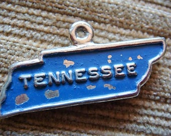 Tennessee Charm Metal Tennessee Charm Vintage Metal Painted Tennessee Charm