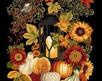 Harvest Gathering, Black Panel 24in x 44in
