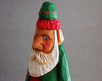 Wood hand carved Santa