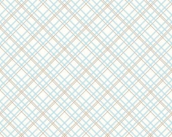 Aqua Plaid - Bee Backings and Borders by Lori Holt Bee in my Bonnet for Riley Blake - Wide Back