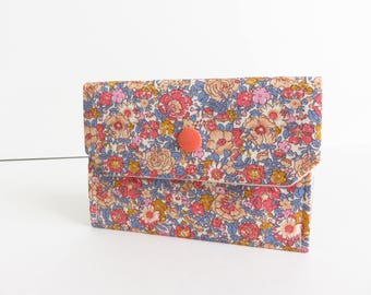 Liberty Lawn' Amelie D' Small Snap Wallet