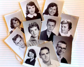 Vintage Black & White Photos / High School / Lot of 10