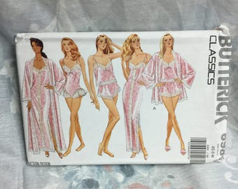 Butterick 6985 Misses Robe, Nightgown, Camisole, Panties and Teddy sewing pattern Uncut Sizes XS, S, M