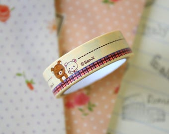 09 Rilakkuma Bear Cartoon Washi Masking Tape