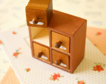 Square Drawer craft rubber stamps set