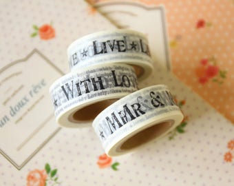Newspaper country craft paper masking tape