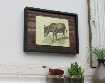 "home decor - ""Donkey""- country chic - kitchen farmhouse wall art"