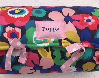 Hello Poppy Nap Mat by Janiebee Quilted Toddler Nap Mats Safe Machine Washable Daycare Nap Mats