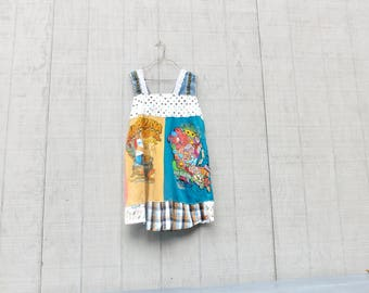 Tshirt Dress, Southern, Upcycled Clothing, Louisiana, Nola, New Orleans, Fleur de lis, Tunic, Dress, Jambalaya, Festival, Boho, Cajun,