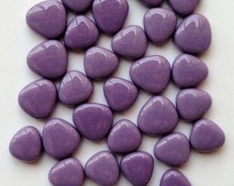 Lavender Turkish Crystal Glass Mini Pebbles/Oval Mosaic Tiles//Petal Shaped Tiles//Mosaic Supplies//Crafts//Mosaic