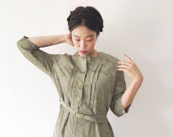 Laurel Leaf, Japanese vintage dress, medium - large
