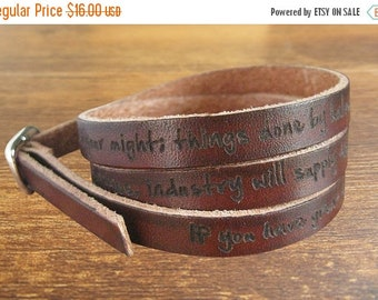 Easter Sale 20% off - Wholesale Engraved Men's Leather Bracelets, Personalize Leather Bracelet, custom engraved , Custom Men Leather Bracele