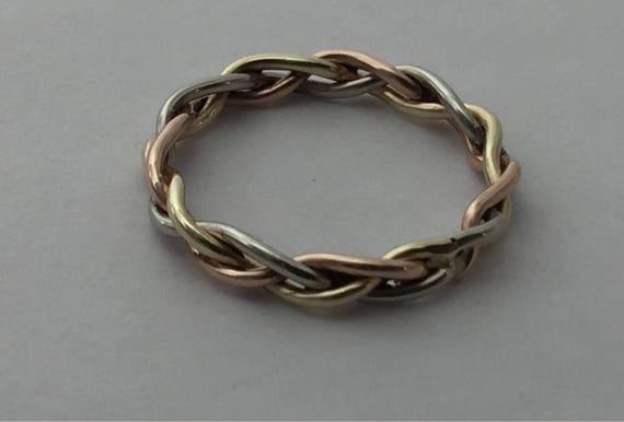 Braid Ring Gold Braided Wedding Band 10kt