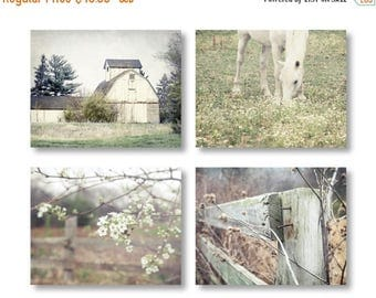 Country Decor, Farmhouse Decor, Rustic Home Decor, Set of 4 Rustic Prints, Rustic Country Landscape Prints, Farm Art Rustic Farmhouse Prints