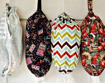 Plastic Bag Holder, Handmade Plastic Bag Dispenser, Fabric Grocery Bag Holder, Plastic Bag Storage, Kitchen Bag Storage, Grocery Bag Sack,