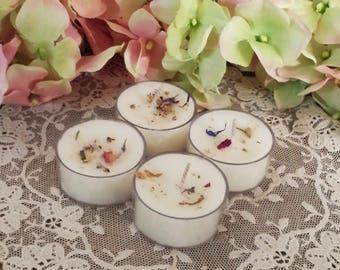 4 Goddess Brigid's Soy Tea Lights, Imbolc Offerings, Imbolc Tea Lights, Imbolc Suppiles