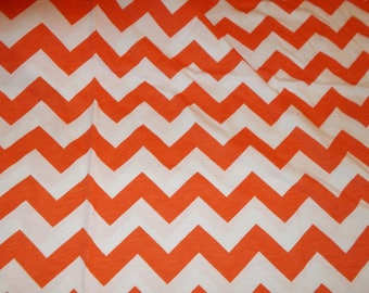Knit Fabric Girl Orange and White Jersey Knit, or Tee Shirt Knit,