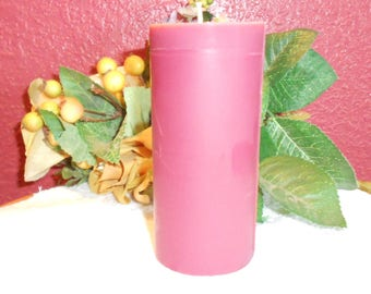 One, Berry Bramble type Scented Pillar Candle, Soy, Pink, Centerpiece, Wedding, Anniversary, Home Decor