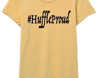 Huffle Puff Pride - Huffleproud Women's Shirt in Black and Yellow