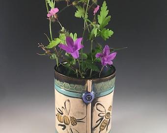 Bee Vase,Spring Vase, Summer Vase