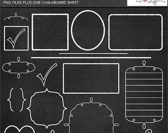 65%OFF SALE Clipart, chalkboard clipart, chalkboard frames, chalkboard labels, chalkboard digital paper, commercial use clipart, P155