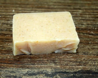 Pure & Simple with Ground Oatmeal Handcrafted Goat Milk Soap Made in Maine, Bath and Body Soap, Fragrance Free, Exfoliating Unscented Soap,