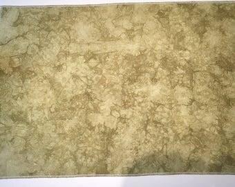32ct Zweigart Belfast linen opalescent - 17x26 - golden olive - DMC equivalent 831 & 372
