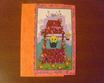 Vintage 1960's/1970's  Get Well Soon  Card  Unused w/Original Envelope