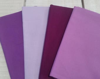 Purple fat quarters