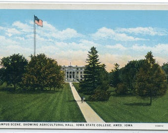 Iowa State University Agricultural Hall Ames IA postcard