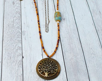 Giving Tree Boho Chic Necklace, Boho chic jewelry, Bohemian jewelry