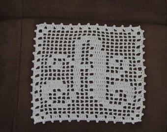 Fillet Crochet Personalized  Letter Alphabet Doily