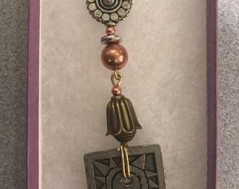 Whimsical mixed metal pendant