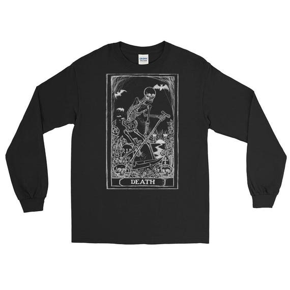 Death Tarot Card Long Sleeve T-Shirt